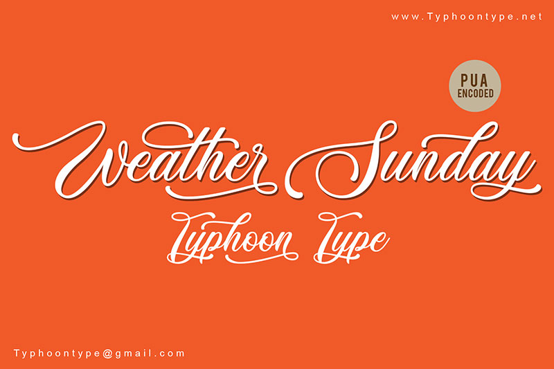 weather sunday wedding font