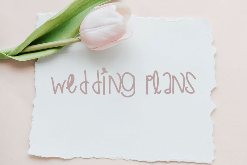 wedding plans wedding font