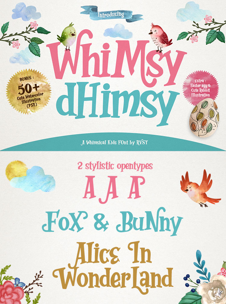 whimsy dhimsy cartoon font
