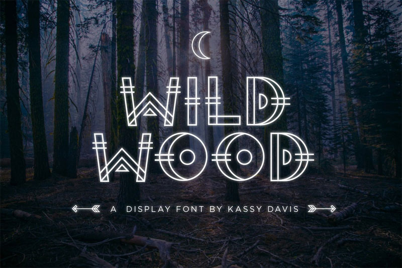 wild wood tribal font