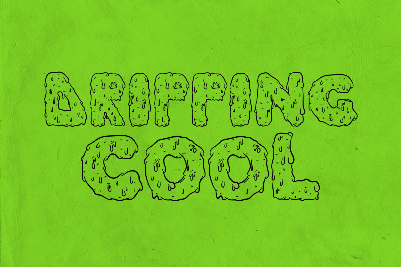 dripping cool slime font