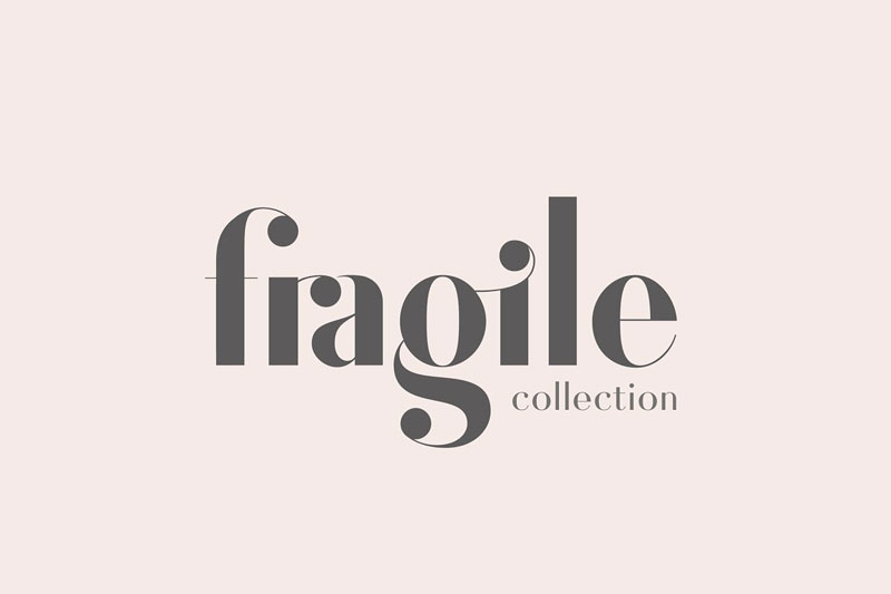 fragile collection birthday font