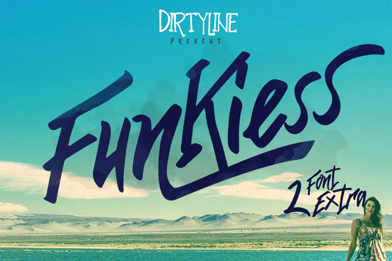funkiess display typeface funky font