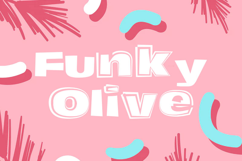 funky olive funky font