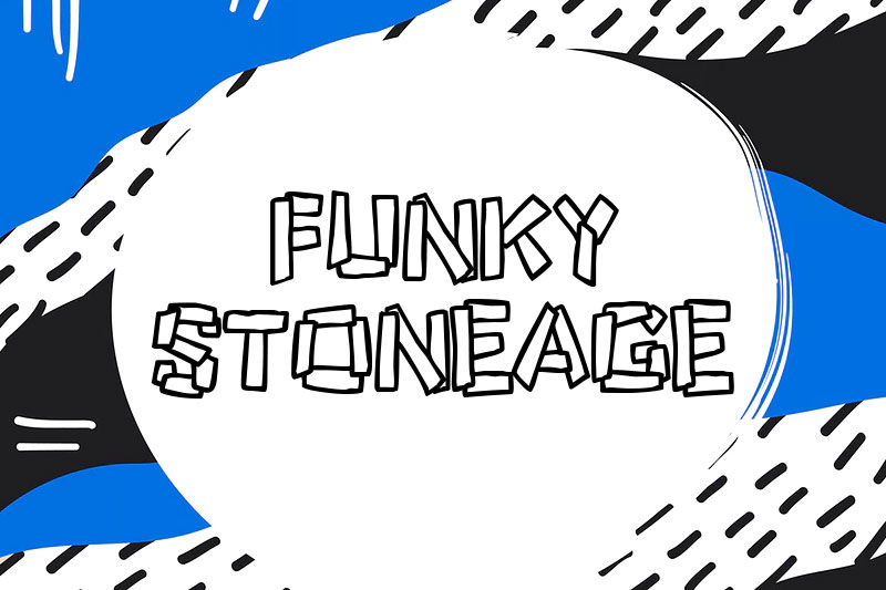 funky stoneage funky font