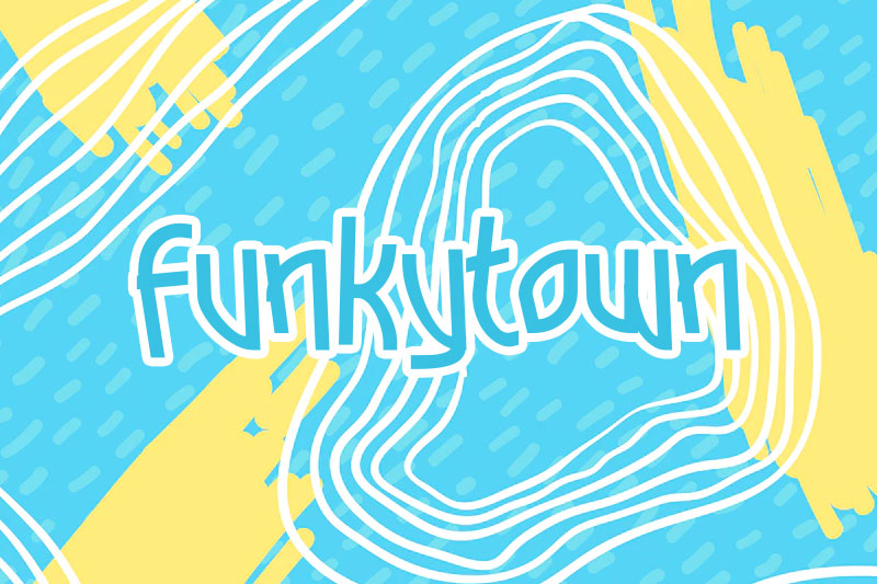 funkytown funky font