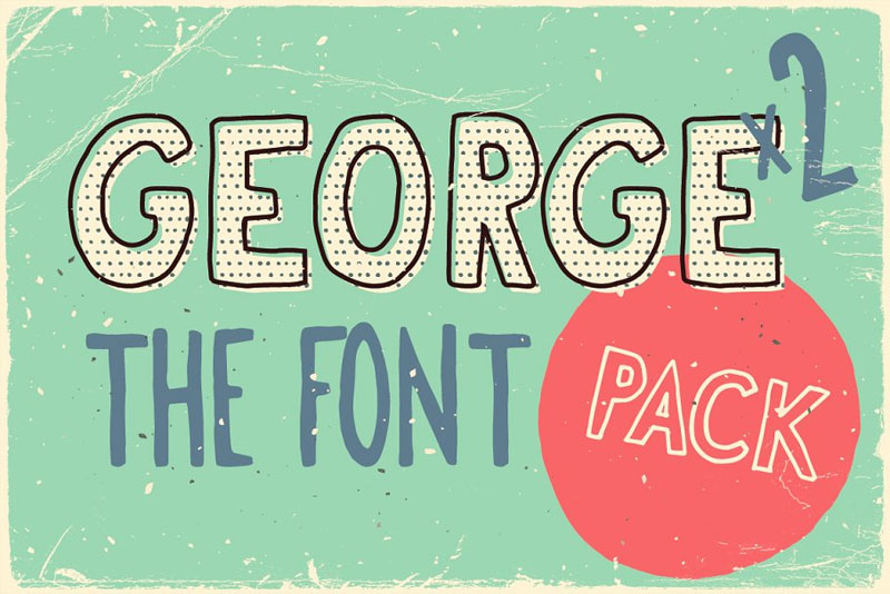 george & francis funky font