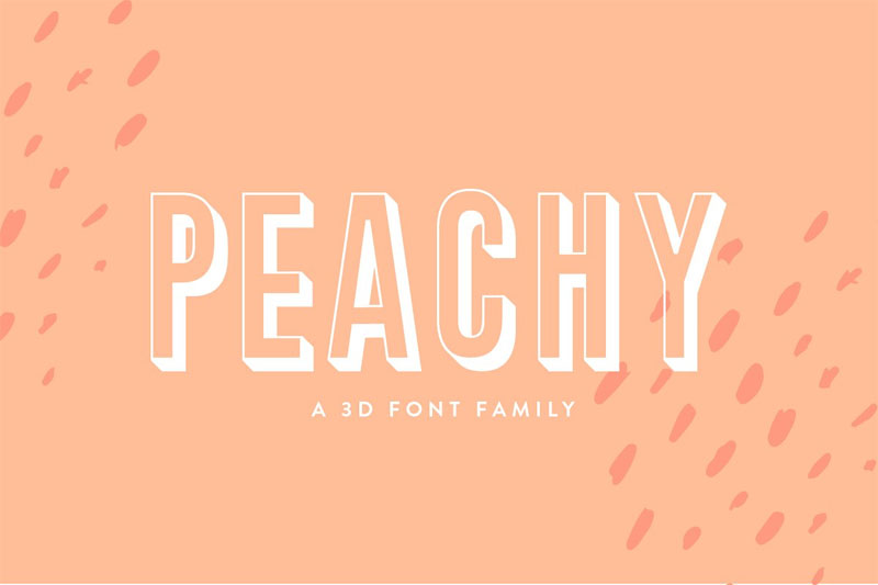 peachy funky font