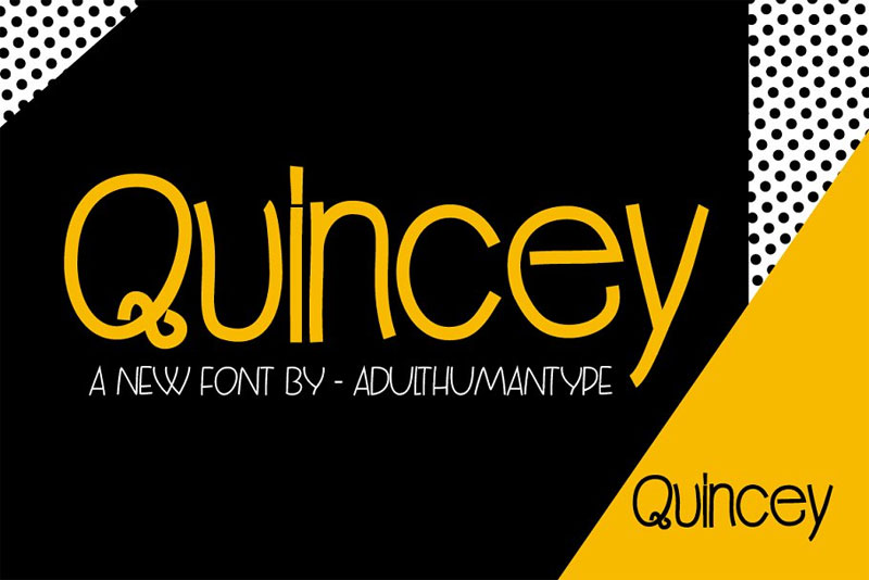 quincey family funky font