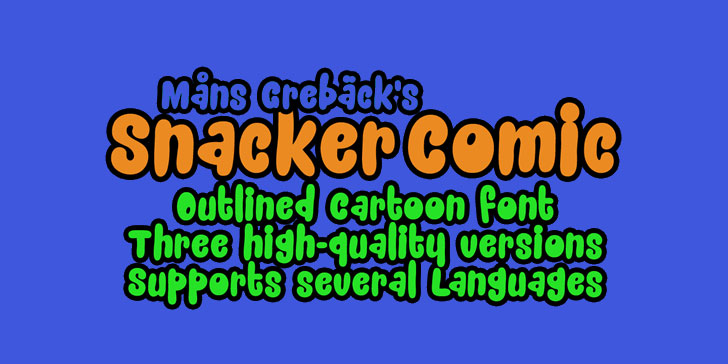snacker comic personal use only birthday font