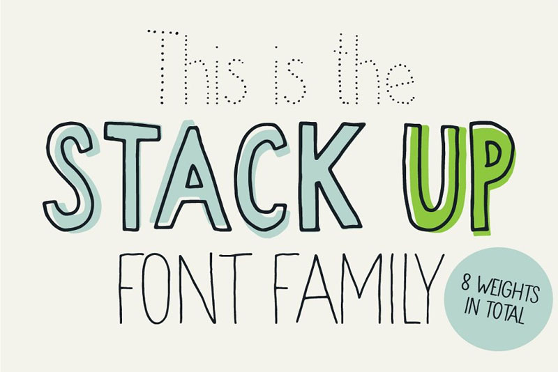 stack up funky font