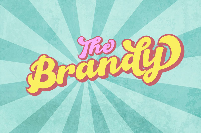 the brandy funky font