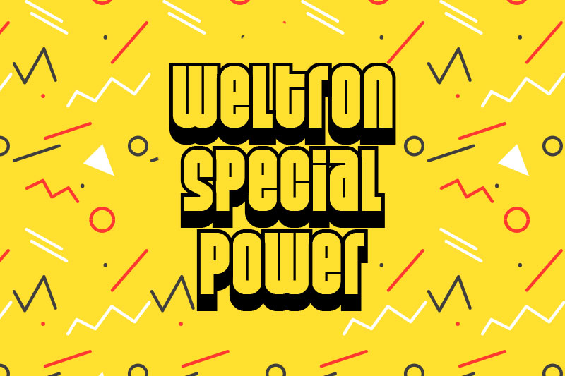 weltron special power 2001 funky font