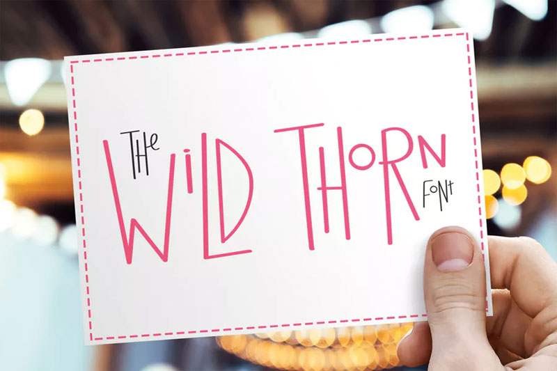 wild thorn funky font