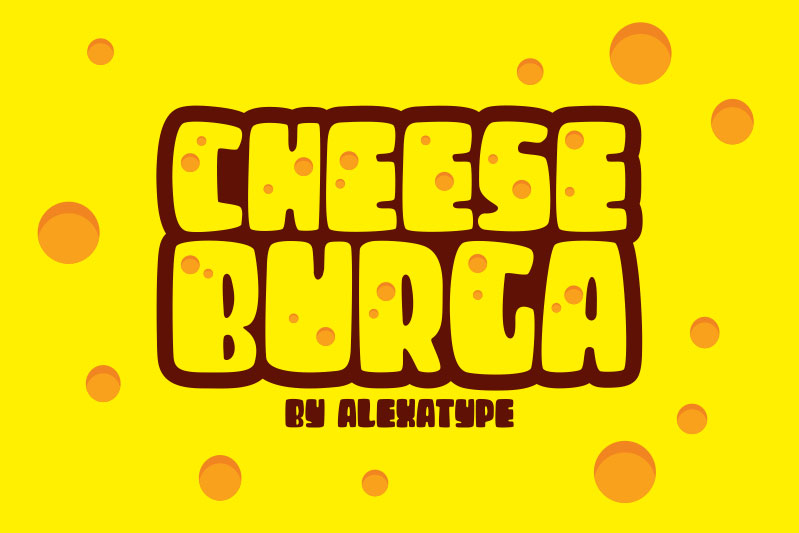cheese burga cartoon font