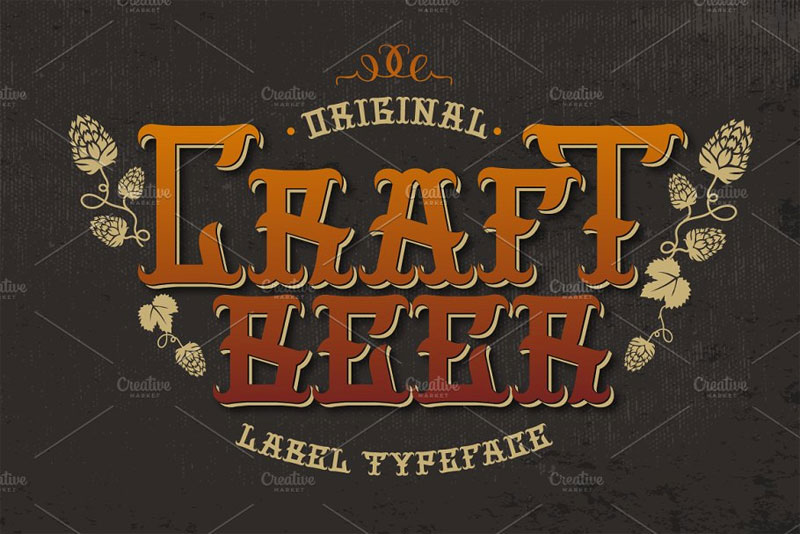 craft beer viking font