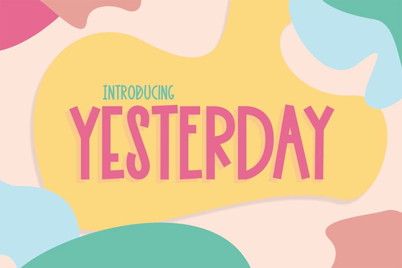 yesterday cartoon font