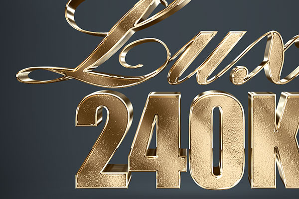 Gold Text Effect Download PSD Text Style