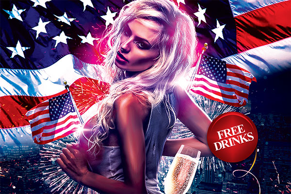 4th of July Flyer PSD Template
