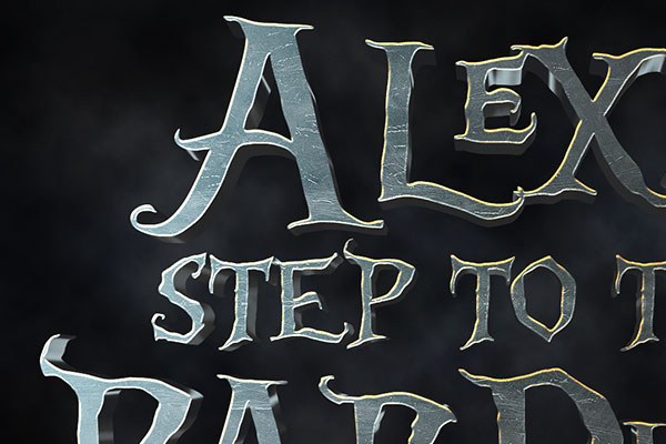 Alice Through the Looking Glass Text Effect Download Text Style
