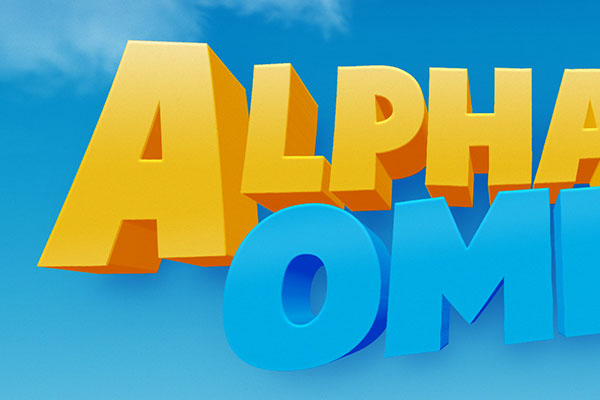 Alpha and Omega Cartoon Text Effect Download Text Style