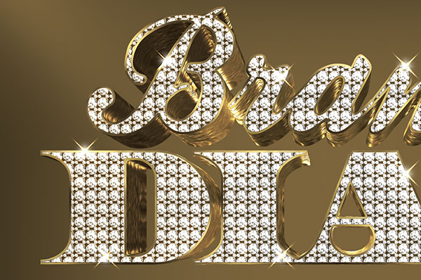 Bling Bling Diamond 3D Text Effect Download Text Style