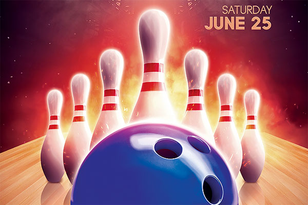 Bowling Tournament Flyer PSD Template Download