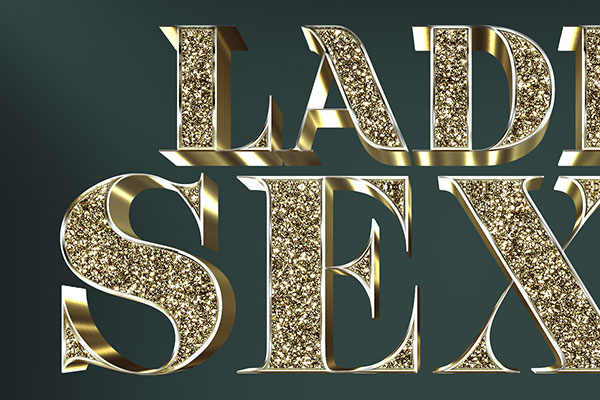 Glitter Gold 3D Text Effect Vol 3 Download Text Style
