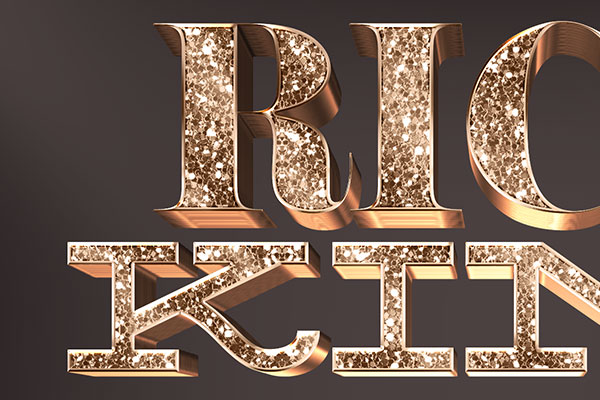 Glitter Gold 3D Text Effect Vol 4 Download Text Style