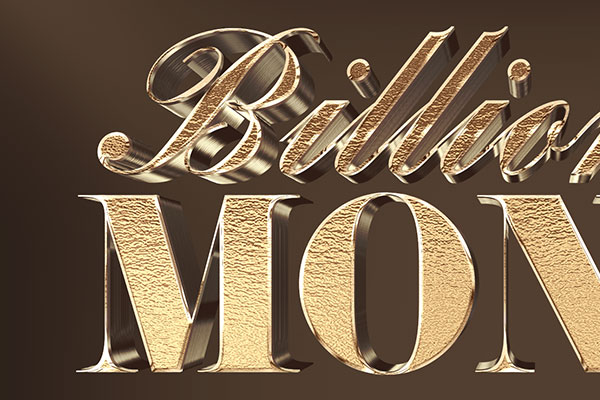 Gold Foil 3D Text Effect Download Text Style