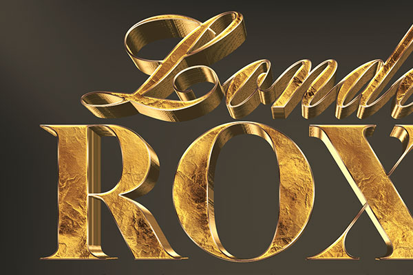 Gold Stone 3D Text Effect Download Text Style