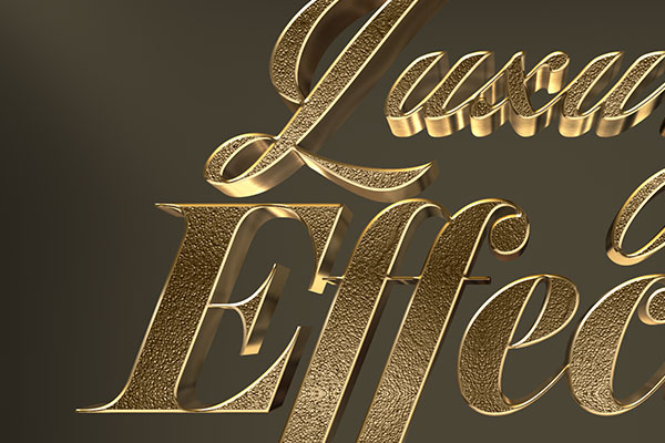 Luxury Gold 3D Text Effect Download Text Style