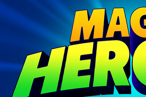Magic Heroes Game Text Effect