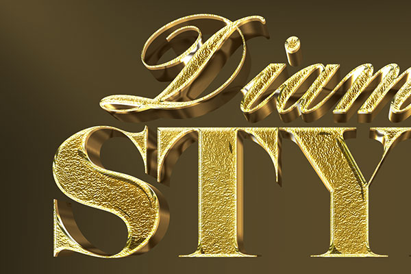 Metallic Gold 3D Text Effect Vol 2 Download Text Style
