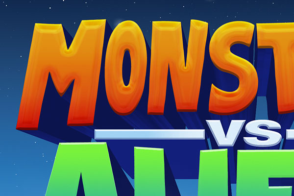 Monsters vs. Aliens Cartoon Text Effect