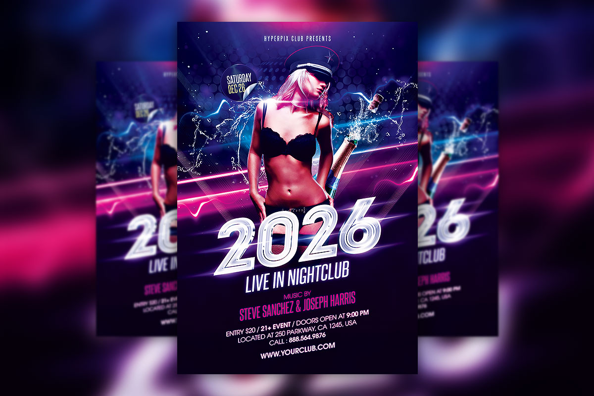 New Years Eve Party Flyer Template Free from hyperpix.net