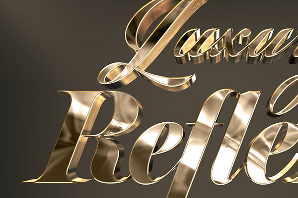 Reflex Gold 3D Text Effect Vol 1 Download Text Style