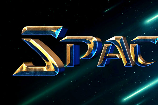 Starcraft Text Effect