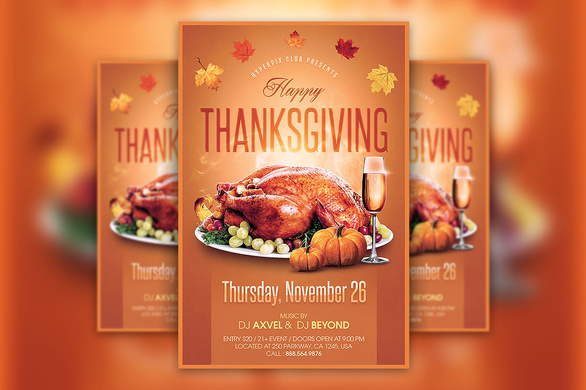 Thanksgiving Flyer Psd Template Hyperpix