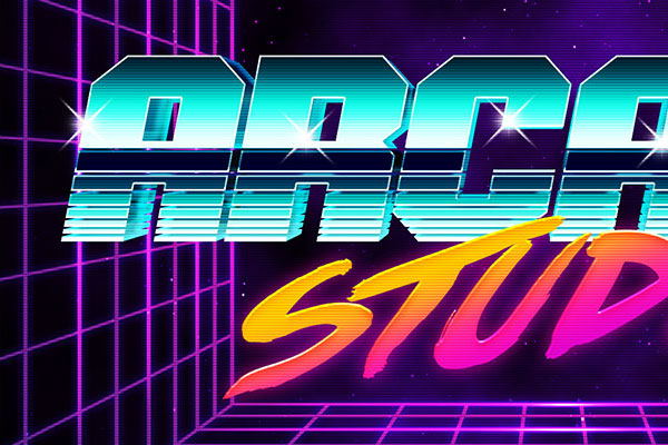 80s Arcade Text Effect Download Text Style