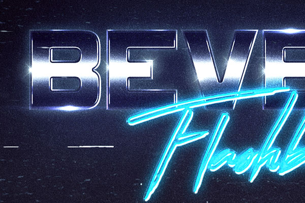 80s Cyberspace Text Effect Download Text Style