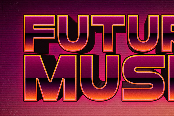 80s Future Music Text Effect Download Text Style