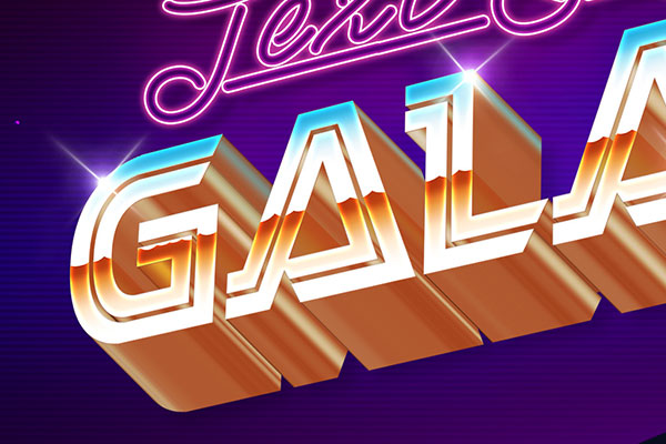 80s galaxy text effect download