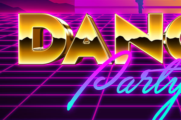 80s Gold Chrome Text Effect Download Text Style