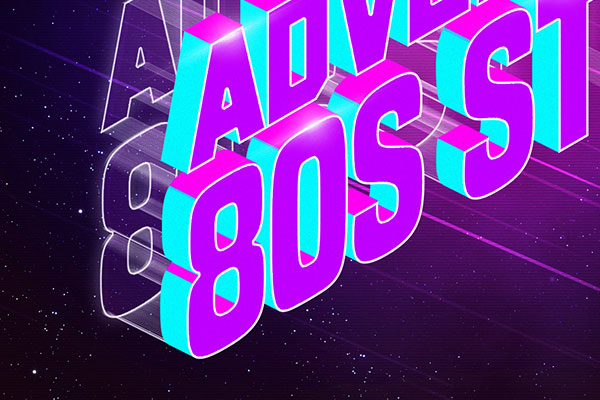 80s Isometric Text Style Download Text Effect