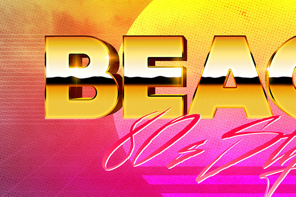 80s Miami Vibe Text Effect Download Text Style