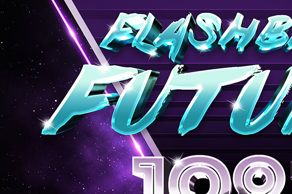 80s Retro Sci-Fi Text Effect Download Text Style