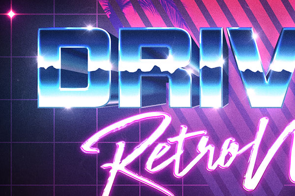 80s retrowave text effect download text style