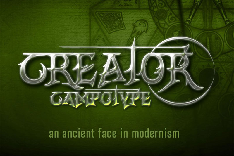 creator campotype pirate font