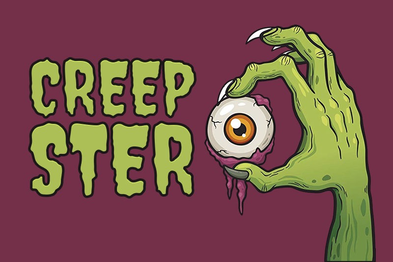 creepster dripping slime font